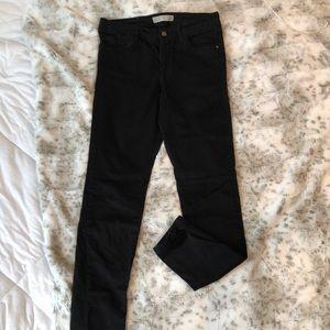 Zara High Waisted Black Denim